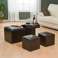$94Jameson Double Storage Ottoman with Tray Tables