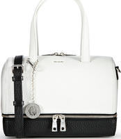 $80DKNY Color Block Leather Small Satchel
