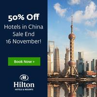 50% OffHilton Hotels in China