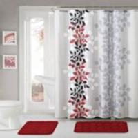 15 Piece Victoria Classics Shower Curtain W Bath Mats