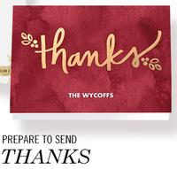 FREE10 Customized Thank You Cards with Envelopes