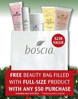 Free Beauty Bag Filled with Full-Size Product + Free Shippingwith any $50 Purchase @Boscia