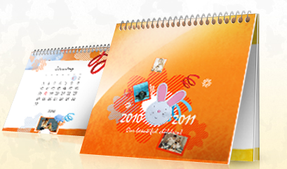 FREE8.27x 3.74 Desktop Photo Calendar