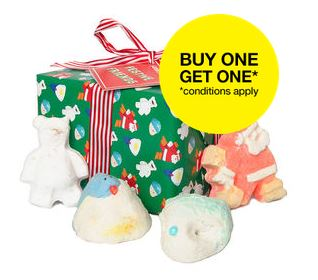 Buy 1 Get 1 FreeSelect Items @ LUSH Cosmetics