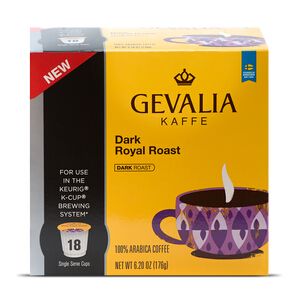 $33.26Gevalia Dark Royal Roast黑咖啡咖啡 4箱*18个