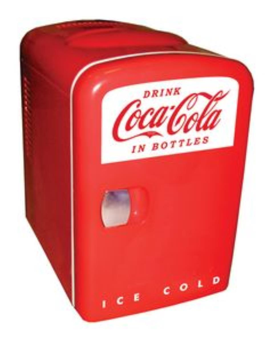 $42Koolatron KWC-4 Coca Cola Compact Mini Refrigerator With 4 Litre Capacity