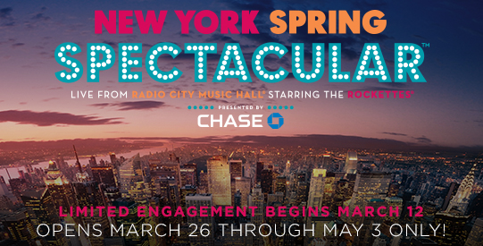 SAVE OVER 30%on Radio City Spring Spectacular Tickets