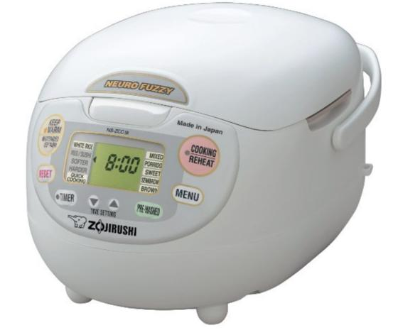 $151 Zojirushi NS-ZCC18 White 10-Cup Rice Cooker