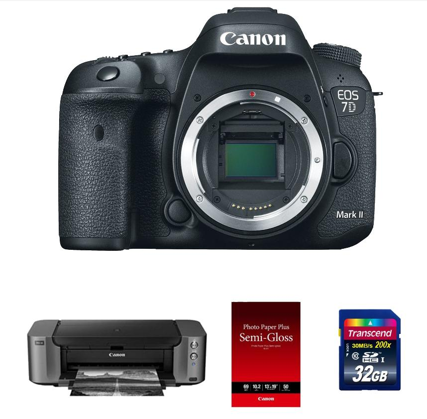 $1599Canon EOS 7D Mark II Digital SLR (Body) / Pro 100/ Photo Paper/ Adobe LR5