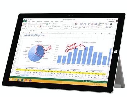 Preowned Microsoft - Surface Pro 3 - 256GB - Intel i5 - Silver