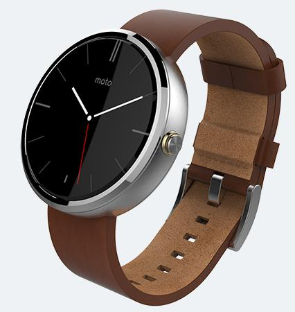 Motorola Moto 360 Stone Grey Leather Smart Watch