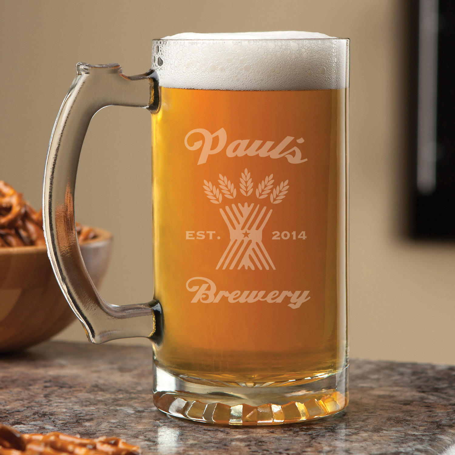 Personalized 16 oz. Beer Mug