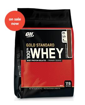 Optimum Nutrition 100% Whey Gold Standard DOUBLE RICH CHOCOLATE (8 Pound Powder)
