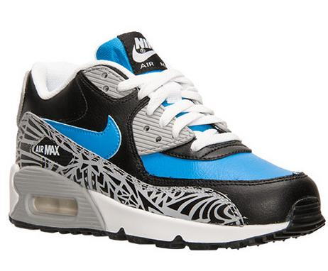 best service d5342 14323 Boys Grade School Nike Air Max 90 Premium Leather Running Shoes