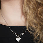 $29Heart Necklace with Swarovski Crystals