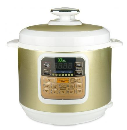 Midea MY-CS6002W 7 in 1 Programmable Pressure Cooker, 6L, 1000w Stainless Steel Cooking Pot and Exterior, 2015 new arrival