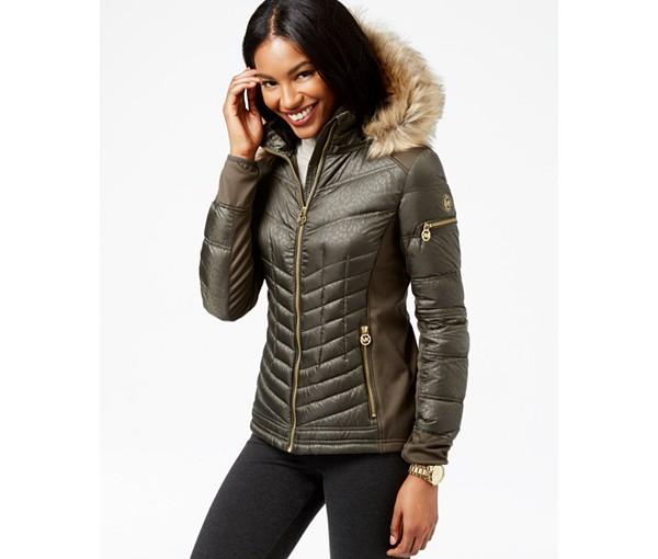4f5d555e4 MICHAEL Michael Kors Faux-Fur-Trim Quilted Down Coat - Dealmoon