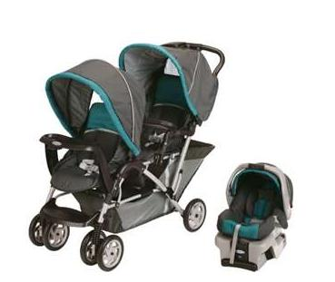 $219Graco DuoGlider Folding Double Baby Stroller with Car Seat Travel Set (Dealmoon Singles Day Exclusive!)