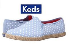 $15 Keds Twin Gore w/ Jute Chambray Dot