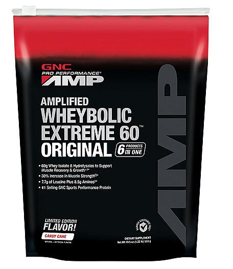 GNC Pro Performance® AMP Amplified Wheybolic Extreme 60™ Original - Candy Cane