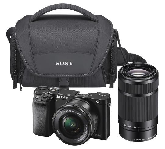 Sony Alpha a6000 Mirrorless Camera with 1650mm and 55210mm Lens Kit Black ILCE6000YCSB - Best Buy