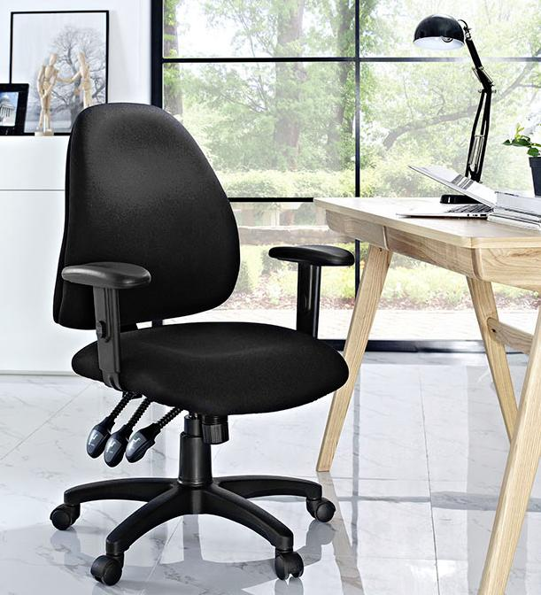 $53LAX OFFICE CHAIR IN BLACK