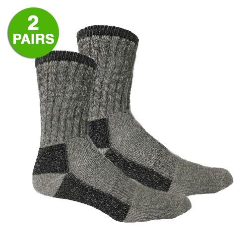 2 Pairs: Merino Wool Blend Winter Thermal Insulated Socks
