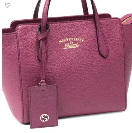 ebab43463a1 Gucci Soho Small Leather Tote Bag W Chain Straps Bright Pink ...
