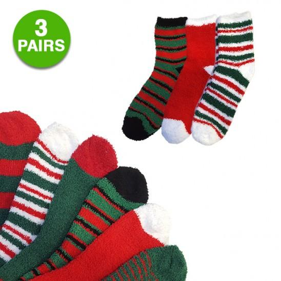 3 Pairs of Select Christmas Socks