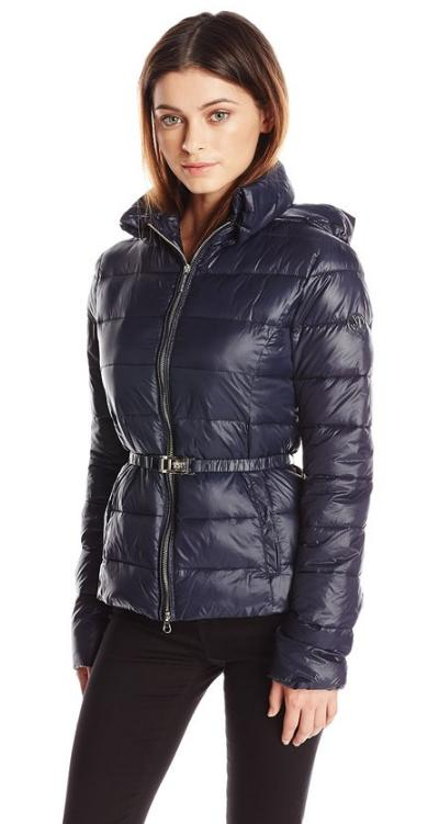 new concept 14252 1db4b Armani Jeans Women's Piumino Belted Puffer Jacket - Dealmoon
