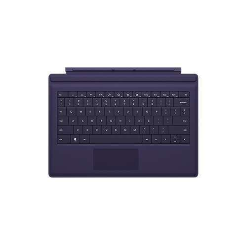 Microsoft Type Cover 3 - Compatible with Surface Pro 3, Backlit, Purple
