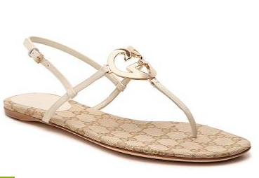 Gucci Leather Interlocking G Flat Sandal