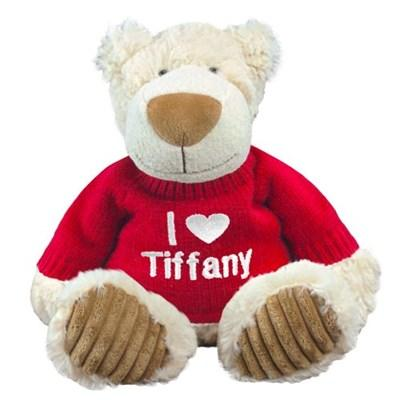 Embroidered I Love You Teddy Bear - 12