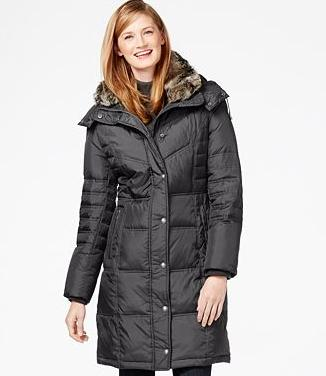 2331531a5 London Fog Faux-Fur-Collar Quilted Down Coat - Dealmoon