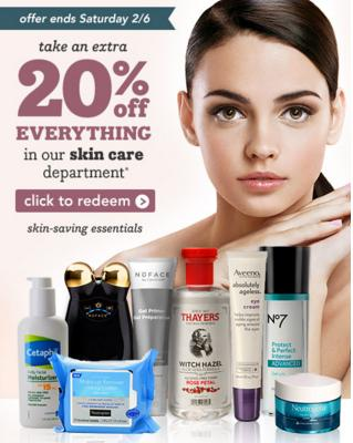 Extra 20% OFFSkincare Department @ Drugstore