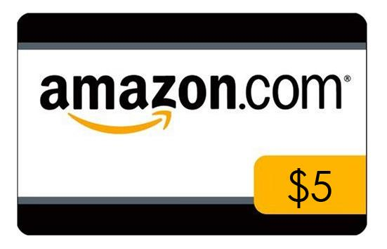 $100 Get a $5 credit for reloading your Amazon.com Gift Card Balance with $100 or more