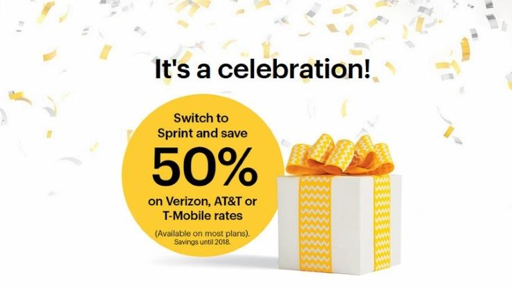 Up to $650 per line + 50% Off!Switch to Sprint and save 50%
