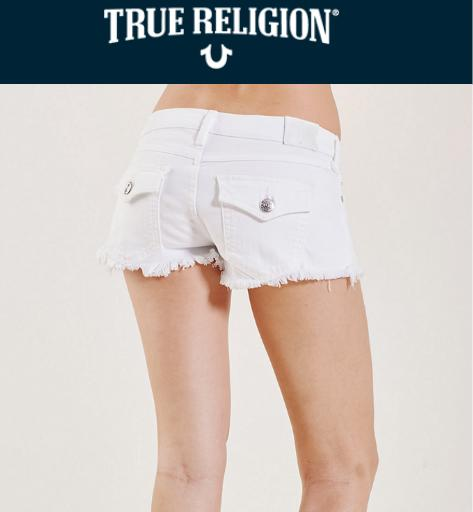 40% Off ShortsSunny Surprise @ True Religion