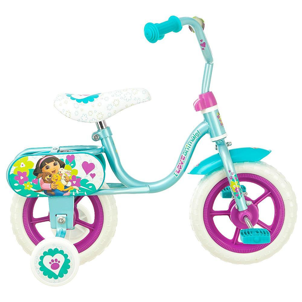 "Nickelodeon 10"" Girls Dora Puppy Pals Sidewalk Bike"