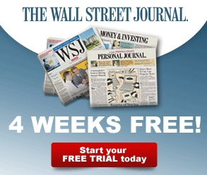 50% Off + 4 Weeks FreeThe Wall Street Journal and Free 30 Day Trial Market Watch