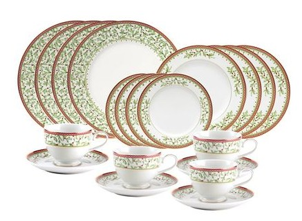 Mikasa Holiday Traditions 20 Piece Dinnerware Set with Bread and Butter Plate