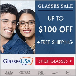 Up to $100 OffEntire Order @ GlassesUSA.com