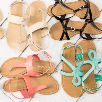 All styles are $10.95Summer Sandal Blowout @ Jane