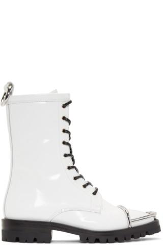 Alexander Wang White Kennah Boots