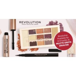 REVOLUTION彩妆买满15欧送一个眼影盘