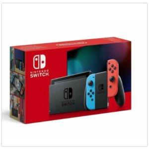 Nintendo Switch (新版本)  荧光红蓝配色续航升级版