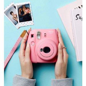 史低价:激萌 Fujifilm Instax Mini 9 拍立得 雾霾蓝色/绿色/粉红色/白色