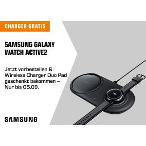 买就送价值70欧的三星无线双充电器!三星Galaxy Watch Active 2 健康管理生活~折后299欧