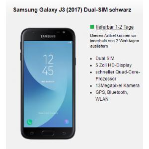 100分钟电话/1GB流量 月租只要9.99欧,无Datenautomatik!一次性购机费9.99欧送 Samsung Galaxy J3 2017