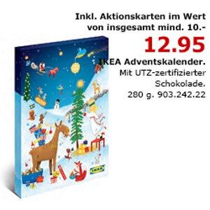 9月18日开始!IKEA 2018年圣诞日历只要12.95 欧,里面包含至少10欧~最高可能1000欧代金券还有很多巧克力